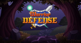 Warrior Defense title screen (night) by Shelly Soneja